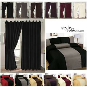 Fully-Lined-Jacquard-Diamond-Curtains-Ties-Duvet-Cover-available-separately