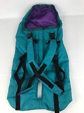 The First Years Baby Carrier Backpack Stroller Carset Cover Green Purple Lined