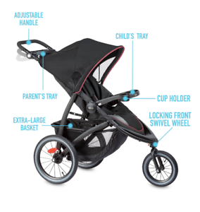 New Pink Girl's Single Baby Stroller Jogger Folding Child Travel Carriage Infant