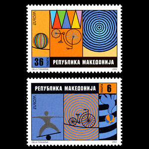 Macedonia-2002-EUROPA-Stamps-The-Circus-Sc-242-3-MNH