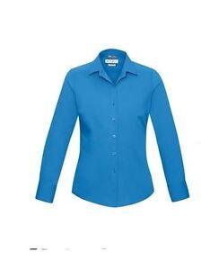 BIZ-Collection-Ladies-Cyan-Verve-Longsleeve-collar-Shirt-career-sz6-BNWT-28
