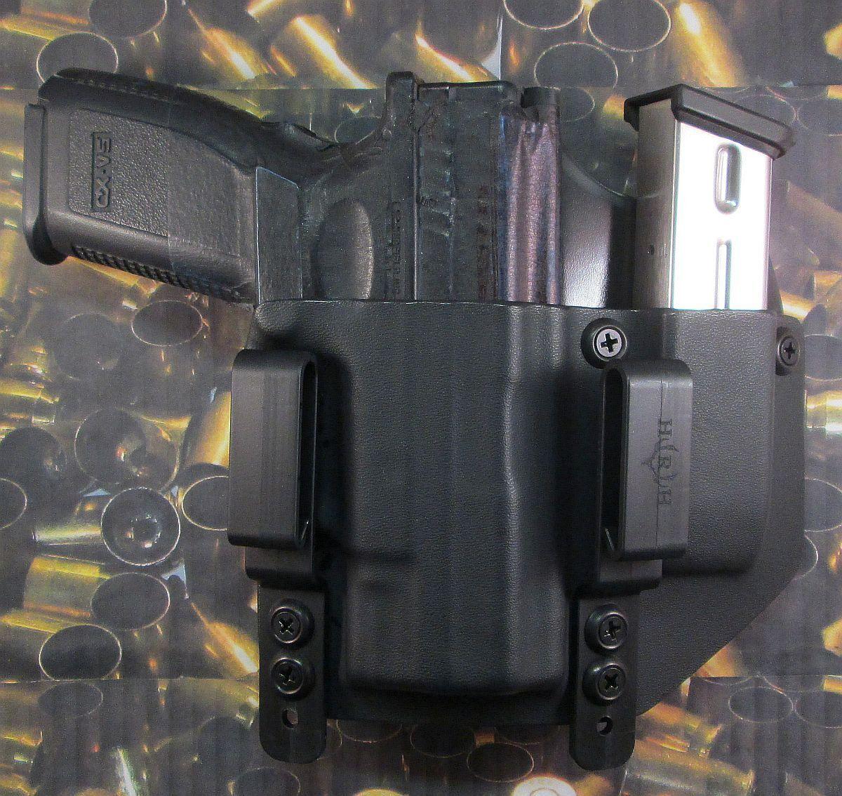 Hunt listo Fundas  XD 9 40 3 bbl SA dentro de la cintura Funda Con Soporte Extra Mag
