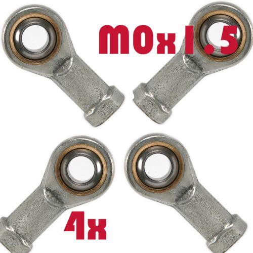 4pc femelle M10X1.5 Tie Rod End Link Miniature Heim Fileté Joint Roulement taraudé