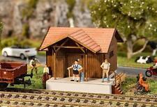 Faller HO 110087 Railway station Hel ling first Lasercut model with Split wood