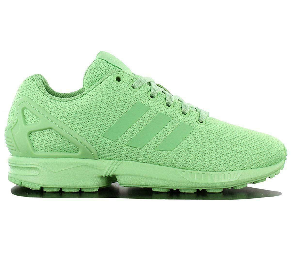 Womens ADIDAS ZX FLUX Green Casual Trainers S80313