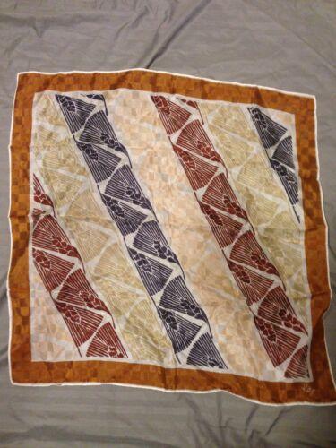 """Vintage Scarf By KATJA Autumn Colors 21""""x21"""" Squar"""