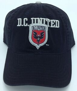 promo code 3ded9 d1a08 Image is loading MLS-DC-United-Adidas-Slouch-Curved-Brim-Buckle-