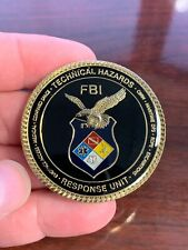 RARE FBI Federal Bureau Of Investigation Technical Hazards Unit Challenge Coin