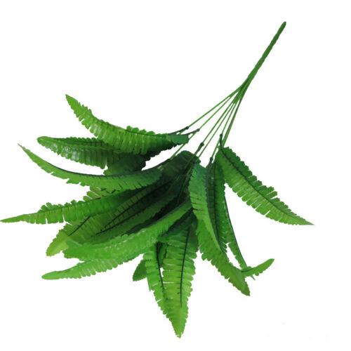 Artificial Plants Flower 7 Fork Fern Persian Simulation Plants 14 Leaves Garden