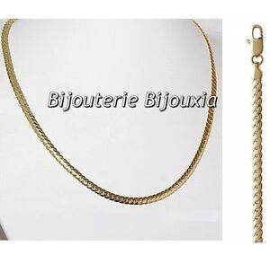 Chaîne Maille Anglaise Diamantée 5CM X 5MM Plaqué Or 18 carats Bijoux Femme