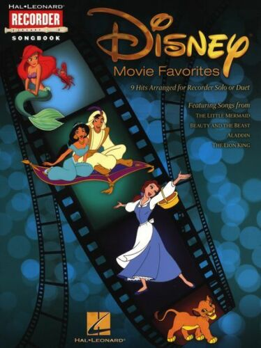 Disney Movie Favourites Recorder Learn to Play Solo Duet Sheet Music Book