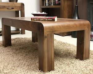 Details About Shiro Solid Walnut Contemporary Living Room Furniture Coffee Table