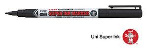 12 x Uni-Ball Black Marker Pen - Permanent CD DVD Fabric Laundry Super Ink