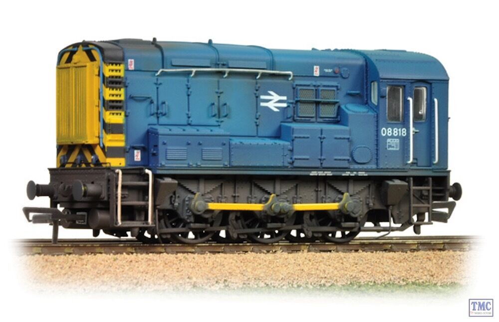 32-115B Bachmann OO Gauge Class 08 08818 BR bluee Wasp Stripes Weathered