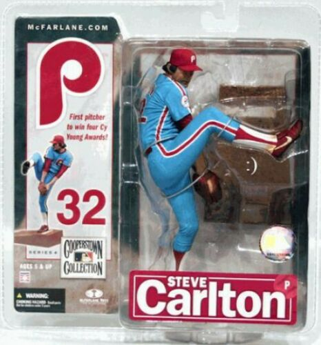 uniforme bleu MLB Cooperstown collection série 4 Steve Carlton figurine