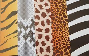 ANIMAL-PRINT-CARD-10-SHEETS-A4-KRAFT-CRAFT-TIGER-SNAKE-ZEBRA-GIRAFFE-CHEETAH
