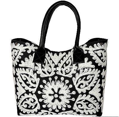 HANDMADE Suzani Women Embroidery Tote Bag Handbags Cotton Hobo Shopping Hippie