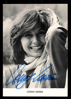 Conny Morin Autogrammkarte Original Signiert ## Bc 42797 Reinweiß Und LichtdurchläSsig Musik