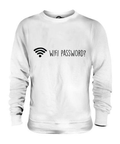 Wifi Password Unisex Maglione Regalo Tecnologia Divertente