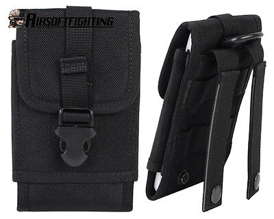 Tactical Molle Big Size Cellphone Pouch Bag for Samsung Note3/N9000 Black A