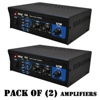 Pack Of (2) Pyle Pca3 2 X 75w Stereo Power Amplifier, Treble Bass Volume Control on sale