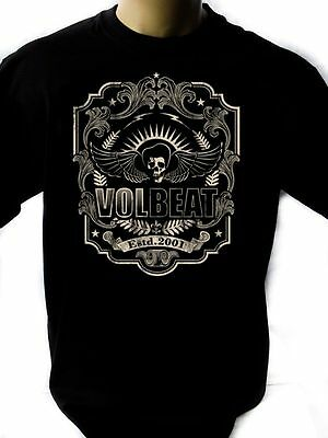 VOLBEAT LOGO Black New T-Shirt Fruit of the Loom ALL SIZES