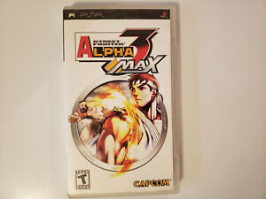 Street-Fighter-Alpha-3-MAX-Sony-PSP-2006-Used-good-complete-with-manual