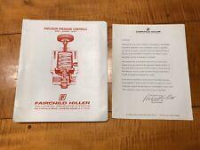 Vintage Fairchild Hiller Catalog Kendall Pressure Regulator Stratos Governaire