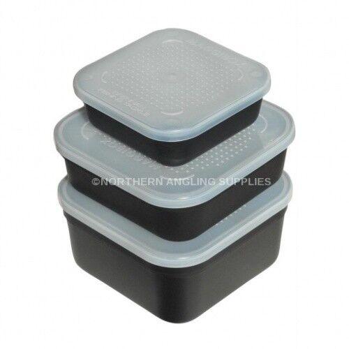 6 ASSORTITI PESCA scatole esca Quadrato Standard 2 ciascuno di 1 Pinta & 2 Pinta & 3 Pinta