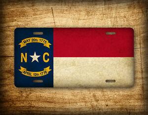Americana North Carolina State Flag License Plate Vintage