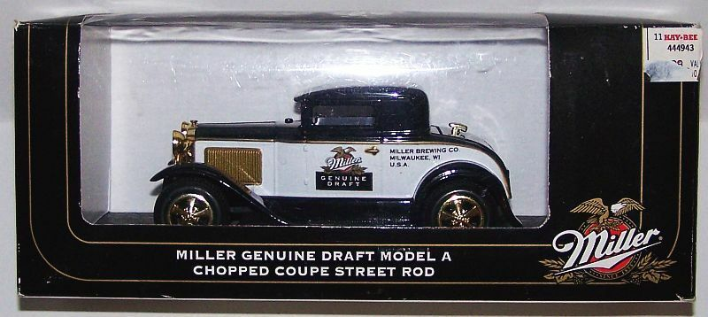 MILLER GENUINE DRAFT 1 25 Scale Die Cast Model A Coupe Street Rod Collectible