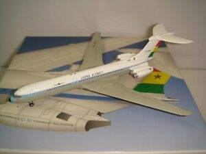 "Jet-X 400 Ghana Airways Vickers VC-10 ""1960s colors - Black Title"" 1:400"