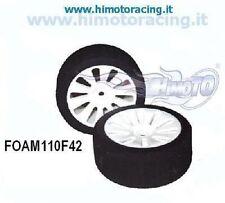 FOAM110F42 COPPIA RUOTE ANTERIORI ON ROAD HIMOTO 1/10 GOMME IN SPUGNA Rim &Tyre