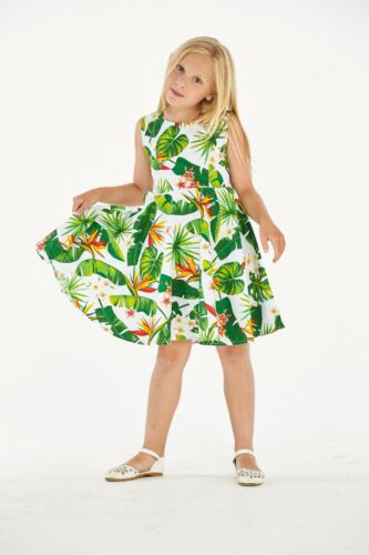 2Hawaii Hangover Girl Hawaiian Fit and Flare Dress in Bird Of Paradise White