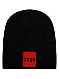 Image is loading RAGE-AGAINST-THE-MACHINE-Red-Square-Black-Beanie 7011392448f