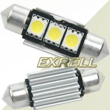2x 36mm Lampadine Siluro Auto 3 LED SMD 5050 Bianco Canbus Error Free 12V 6500K