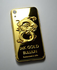 quality design b9691 00d6c Details about 24K Gold Plated Dragon edition over iphone XR - 64GB  (Unlocked) super luxury