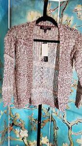 NWTSugar-Rush-Girls-Open-Front-Crochet-Back-Cardigan-Size-Small-Retail-40-00