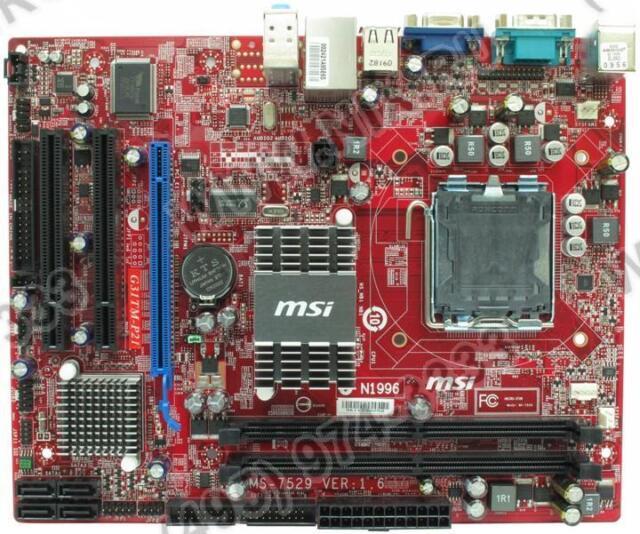 Msi G31tm P21 Ver1 6 Lga775 Socket Intel Motherboard For Sale Online