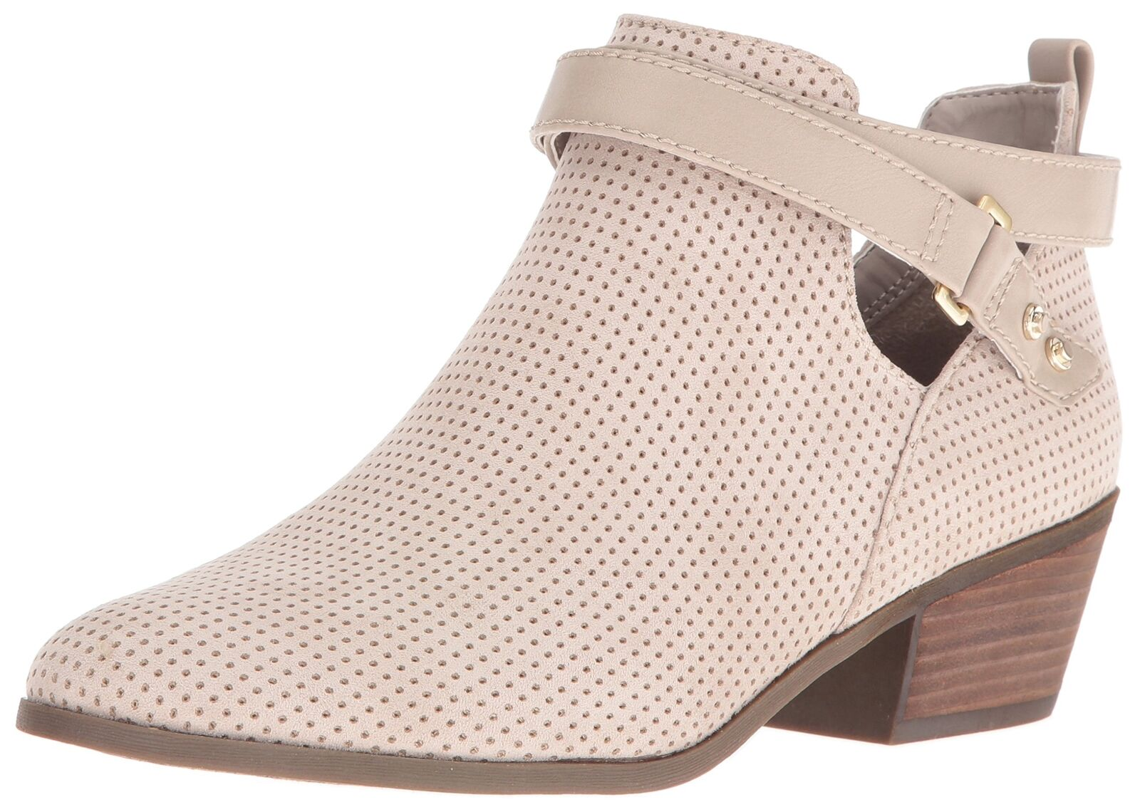 Dr. Dr. Dr. Scholl's shoes Women's Baxter Ankle Bootie Taupe Perforated 7.5 M US 1d815e