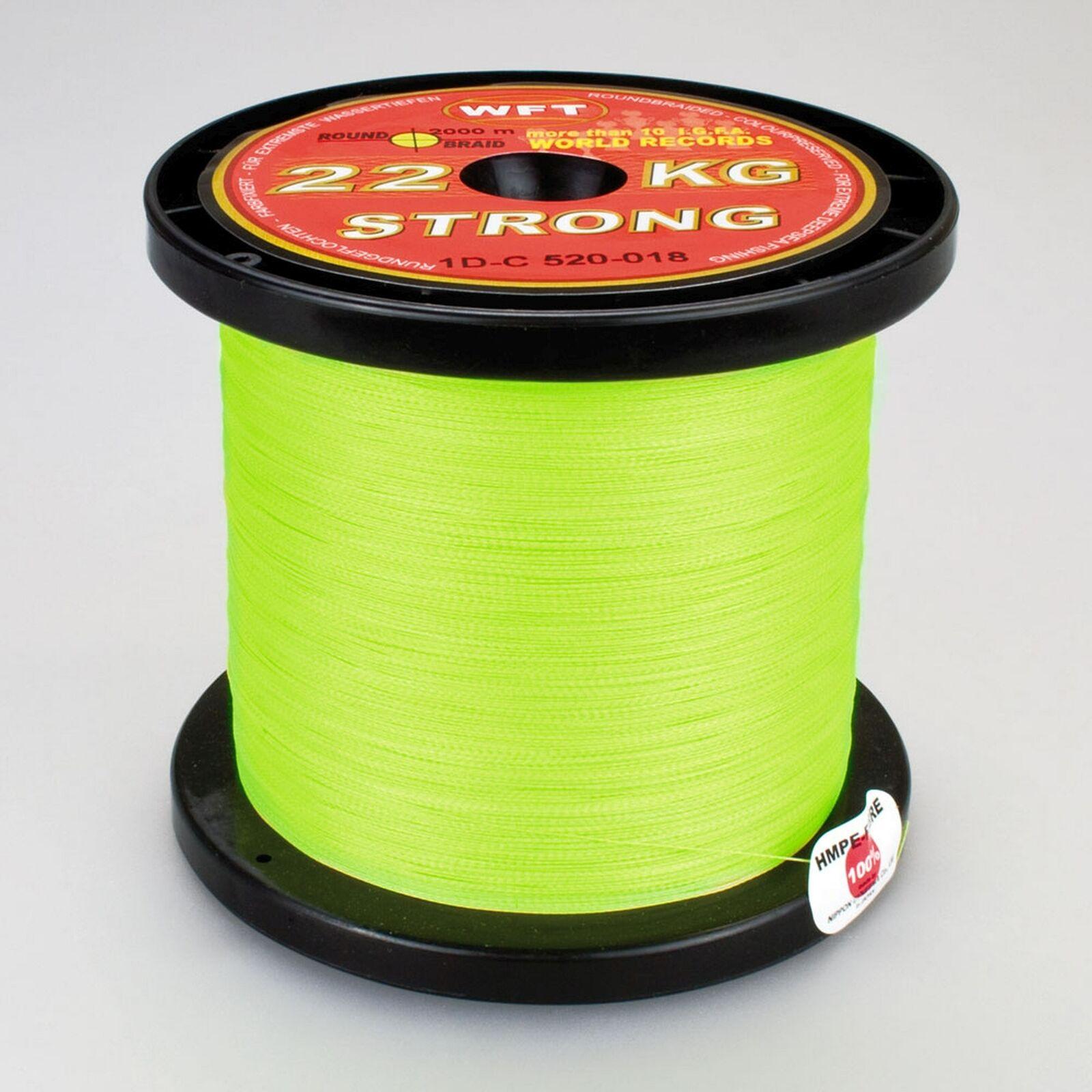 ( /m) WFT KG Strong Geflochtene Angelschnur Chartreuse 0,08-0,39mm 2000m