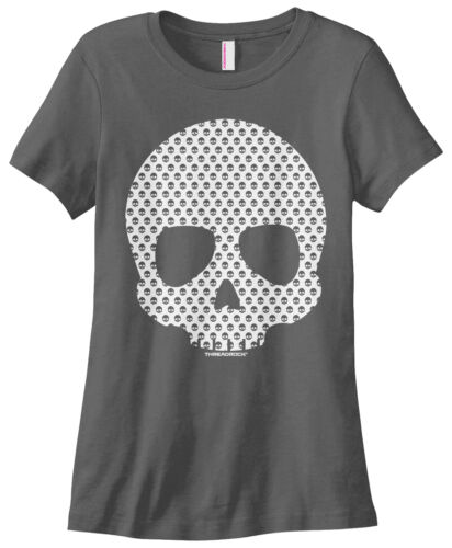 Threadrock Women/'s Skull Made of Skulls T-shirt Halloween Skull