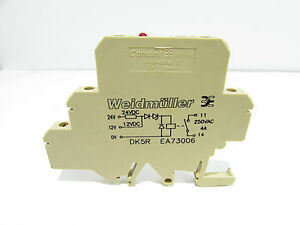 WEIDMULLER DK5REA73006 RELAY TERMINAL BLOCK 1224VDC 250VAC 4A
