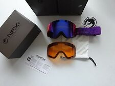 Dragon NFXs Stone Violet Purple Ion + Amber Snow Goggle NIB NEW LINE