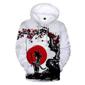 28039d7ce74c Anime Dragon Ball Top Pullover Cotton Printed 3D Print Goku Hoodie ...