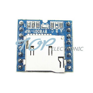 Details about Micro SD TF U-Disk BY8001-16P MP3 Player Arduino Audio Voice  Module Board