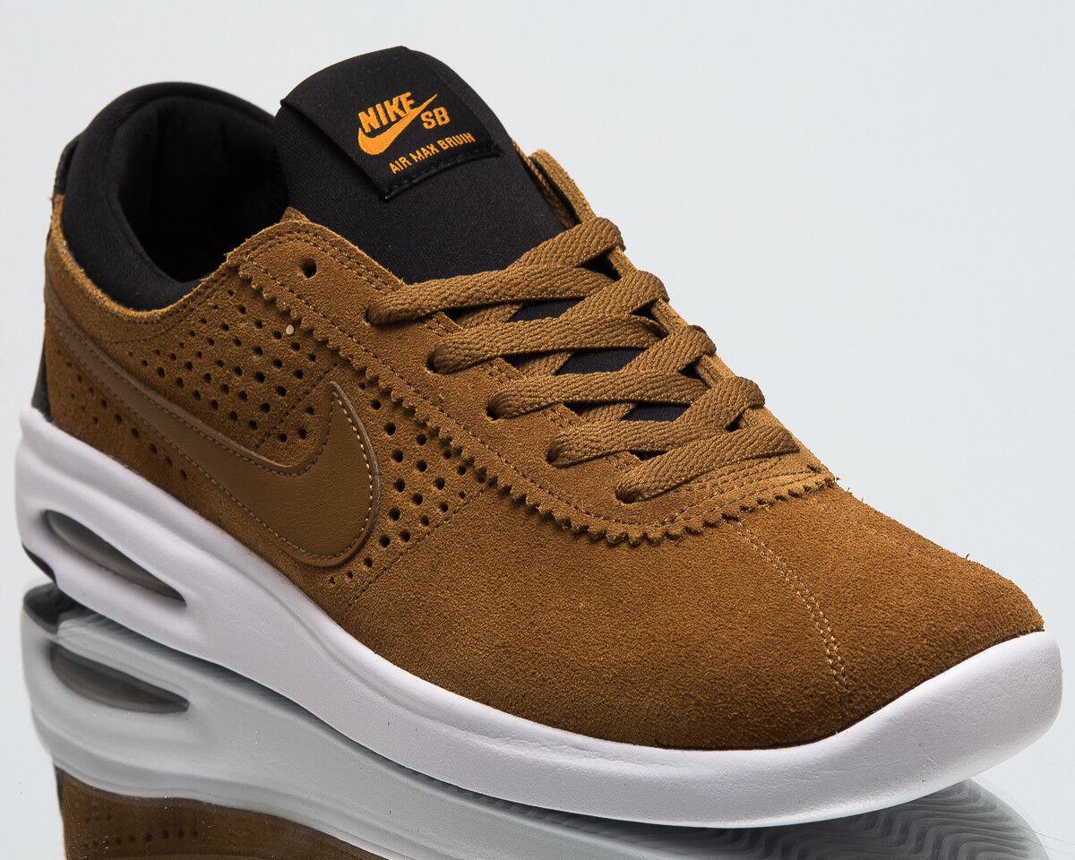 de2ccf29712c7 Nike SB Air Air Air Max Bruin Vapor Men New Light British Tan Black  Sneakers 882097