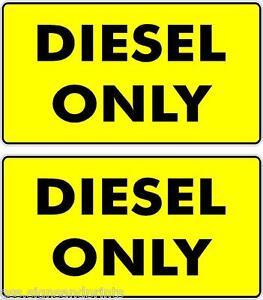 2x 55x25mm Diesel Seulement Jaune Dos Noir écriture Autocollant Voiture Bus Taxi Imprimé-afficher Le Titre D'origine Wokiay0k-07224159-540334147