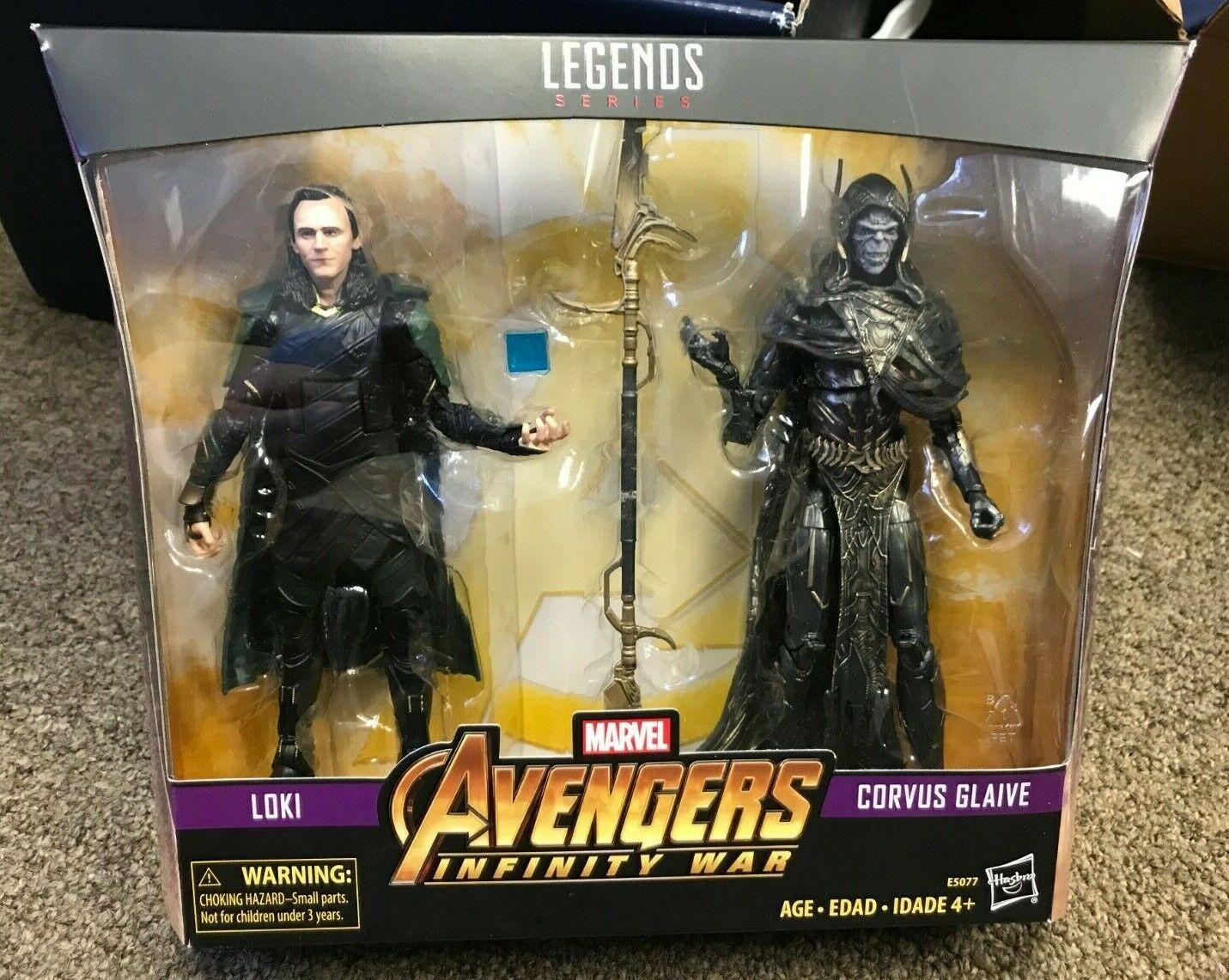 Marvel Leggende Mcu Corvus Glaive + Loki Avengers Infinity Guerra Wwe Wrestling