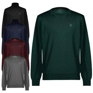 Maglia uomo ROBERTO CAVALLI girocollo o dolcevita collo alto maglione misto lana